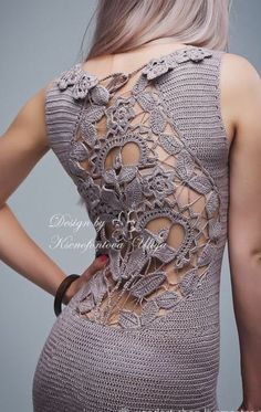 TULIPS crochet mini dress