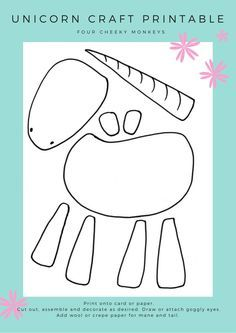 graphic relating to Printable Craft for Kids called Unicorn craft sport: flower crown and free of charge printables