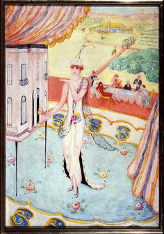 Florine Stettheimer  (American, 1871 - 1944) Portrait of My Sister, Carrie W. Stettheimer, 1923 Avery Architectural & Fine Arts Library, Columbia University in the City of NY
