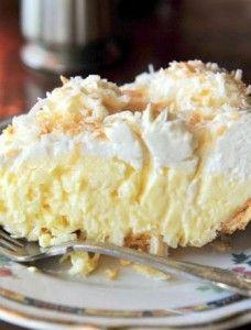 Old Fashioned Coconut Cream Pie | Food- Mafia