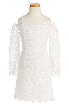 Main Image - Bardot Junior Lace Bell Sleeve Dress (Big Girls)