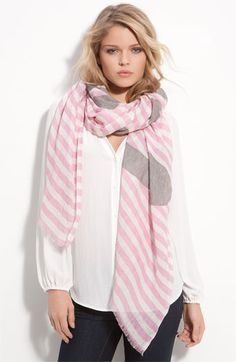 Love this scarf Pink Scarves, How To Wear Scarves, Bandana, Pashmina Shawl, Textiles, Sonia Rykiel, Scarf Styles, Swagg, A Boutique