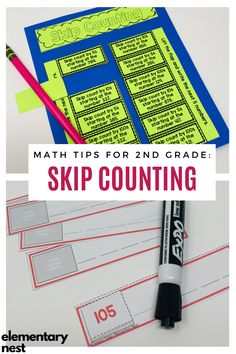 Learn more about teaching skip counting in this grade math unit. There are anchor charts, activities, and other strategies to help students learn how to fluently skip count by various numbers within Teaching Second Grade, Second Grade Math, Grade 2, Skip Counting Activities, Learning Activities, Student Learning, Teaching Math, Maths, Teaching Place Values