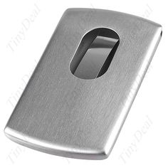 Stainless Steel Letter P Initial 3D Cube Box Monogram Engraved Money Clip Credit Card Holder