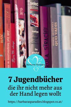 Jugendbuch-Fans werden meine Lesetipps lieben! Auf meinem Blog findest du 7 Jugendbücher, die du nicht mehr aus der Hand legen willst! Schau mal vorbei! Viel Spaß beim Stöbern!