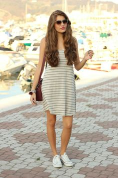 zapatos converse con vestidos