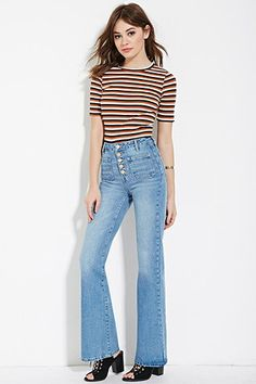 High-Waisted Flare Jeans | Forever 21 - 2000164046