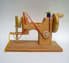Wood Toy Sewing Machine #kids #toys