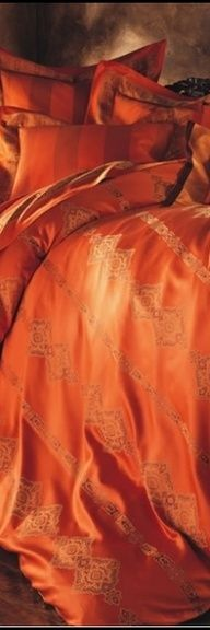 Beautiful Bed Linen Orange one of my favorite colors