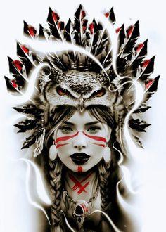 Native American Tattoos, Native Tattoos, Native American Girls, Native American Beauty, American Indian Art, 4 Tattoo, Leg Tattoos, Body Art Tattoos, Sleeve Tattoos