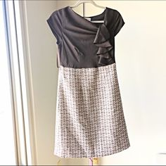 NWT Stylish Winter Business Casual Dress NWT Stylish Winter Business Casual Dress This dress is dark brown on top (see close up photos for colors and material). Never been worn and has tags. Merona Dresses