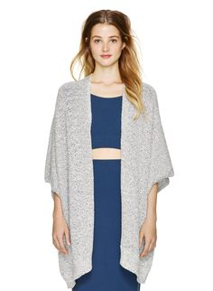 COMMUNITY IONIC CAPE - Casual cape-like perfection fashioned from a soft cotton-blend yarn