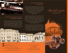 brochure Del Conte, Artisan Chocolate, Graphic Design Inspiration, Villa, Typography, Tutorials, Tips, Movie Posters, Style
