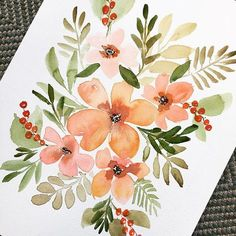 Watercolor floral painting by Susan Van Horn sweetimaginations susanvanhornart
