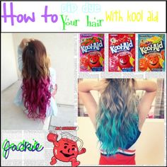 how to dye your hair with kool aid #Beauty #Trusper #Tip