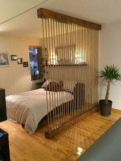 ideas-para-dividir-espacios-en-departamentos-pequenos (13) | Decoracion de interiores -interiorismo - Decoración - Decora tu casa Facil y Rapido, como un experto