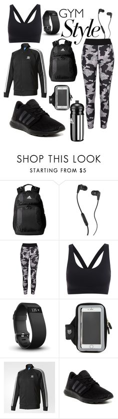 """#gymessentials #gymlife #workout #gymstyle"" by brandiel ❤ liked on Polyvore featuring adidas, Skullcandy, River Island, Fitbit and Forever 21"