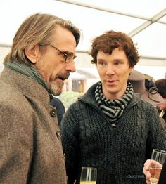 Jeremy Irons and Benedict Cumberbatch. ;) Celebration of Rumpole creator Sir John Mortimer's life at Southwark Cathedral, Nov 17, 2009.