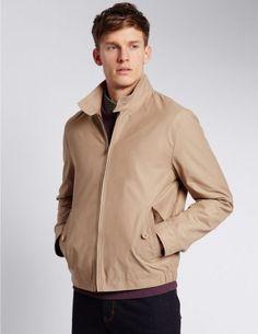Harrington-Jacke mit hohem Baumwollanteil und Stormwear™