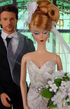 Bling Bride for Silkstone Barbie Victoire Roux  Poppy Parker by HankieChic