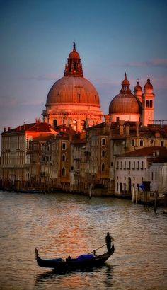 The Grand Canal at sundown ~ Venice, Italy