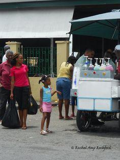 Sno Cone vendor outside of the Tunapuna Market in Tunapuna Trinidad, photographed by Rachel Amy Rochford