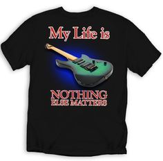 Custom Printed EXCLUSIVELY for Seaboard Traders. Verify you are purchasing an authentic US product by choosing Seaboard Traders at checkout. Guitar Quotes, Funny Shirts, Mens Tops, T Shirt, Life, Fashion, Supreme T Shirt, Moda, Tee Shirt