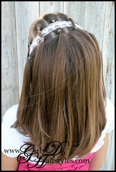 Girly Do Hairstyles: By Jenn: An EASY One for Long or Short Hair Use this one to keep head bands in place.