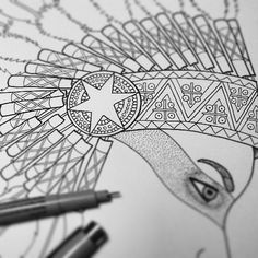 Indian girl from new series :) #agakubish #indian #graphic #inprogress #illustration #ink #handdrawn #lines