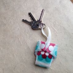 Itti Bitti Danube Minky Mini Cloth Nappy Keyring For Sale on Etsy!