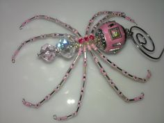 Christmas Spider  Pink & Silver by goosecrossingfarm on Etsy, $24.00