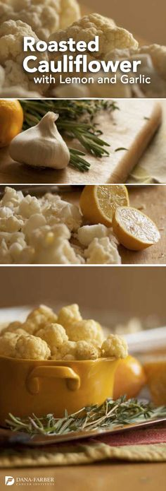 A healthy side dish to try - Roasted Cauliflower with Lemon and Garlic. #recpie