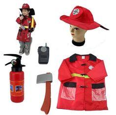 Boys Halloween Fireman Costumes