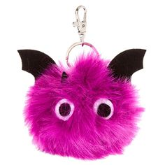 Bat Pom Pom Key Ring