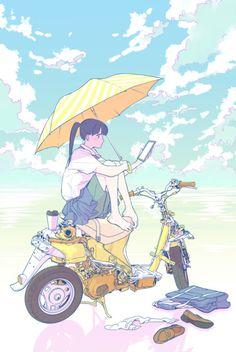"""inushige:  """" 「初夏の読書」/「よしのさじ」の作品 [pixiv] #pixitail  """""""