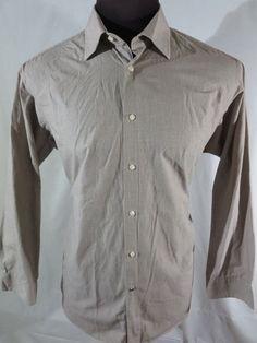 Ben Sherman Shirt Mens XL Tan Striped Long Sleeve Top EUC Button Up  #BenSherman #ButtonFront
