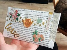 Snail mail Golden vax ♥ Flowers ♥ Polish letters ♥ Made with love!