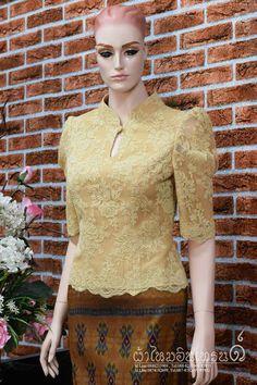 Kebaya Lace, Kebaya Dress, Dress Pesta, Myanmar Traditional Dress, Traditional Dresses, Batik Dress, Silk Dress, Blouse Styles, Blouse Designs