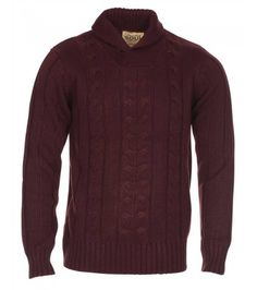 The cable knit features a shawl neck which ensures for extra warmth! Mens Clothing Sale, Jumper, Men Sweater, Cable Knit, Top Sales, Knits, Shawl, Two By Two