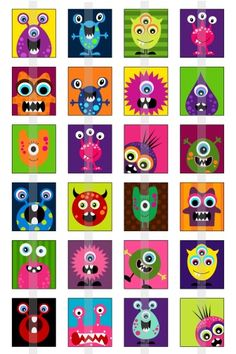 Monsters one 4x6 inch digital sheet of by creativexpressions1