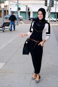 Vela — Blog - Hijabi fashionista! mA // I would move the belt higher on the waist, but otherwise I like it