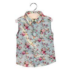 Crianças roupas de verão 2015 novo roupas infantis menina de bebê menina conjuntos de roupas de moda crianças sem mangas floral + shorts