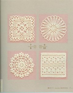 8 interesting doilies with charts