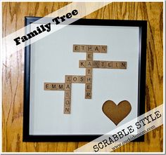 DIY Craft | Family Tree Scrabble Style