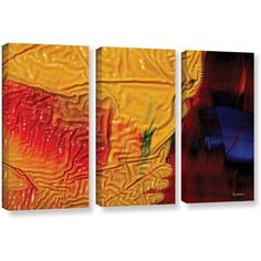 ArtWall Byron May The Approaching Storm 3-Piece Gallery-Wrapped Canvas Set, Size: 36 inch H x 54 inch W x 2 inch D, Blue