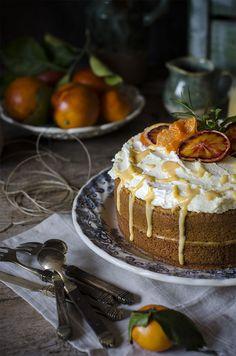 Bizcocho de Naranjas Sanguina {receta de temporada} | Blood Orange Cake http://saboresymomentos.es