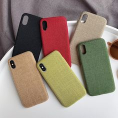 Stylish Fabric Cases For iPhone 7 8 6 6S Plus Case For iPhone X XS Max – i-Phonecases.com Iphone 8 Plus, Iphone 7, Iphone Cases, 6s Plus Case, Mobile Cases, Iphone Models, Sunglasses Case, Grid, Pattern