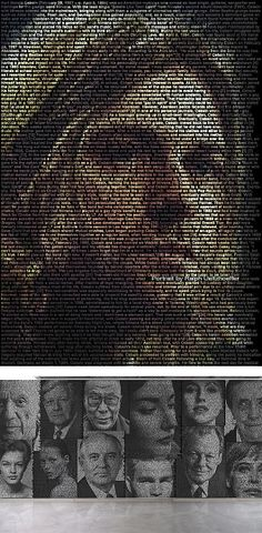 "Celebrity ""Textportraits"" by Ralph Ueltzhoefer"