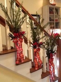 Our version of the bannister christmas swag. Love!