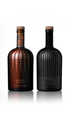 Blossa Glogg Clever Packaging, Glass Packaging, Luxury Packaging, Wine Bottle Design, Wine Label Design, Id Design, Design Blog, Alcohol Bottles, Sprays